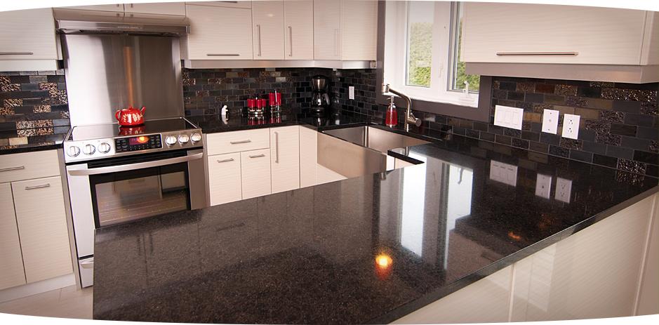 comptoir cuisine quartz noir : Des comptoirs de première qualite